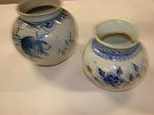 Two Chinese pottery jars