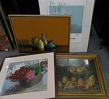 4 various Still Life works
