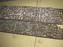 Two Indian wooden decorative planks
