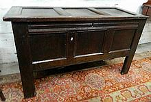 An eigtheenth century English oak coffer