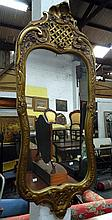 A vintage gilt Swedish mirror
