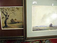 Two V R Watt watercolours
