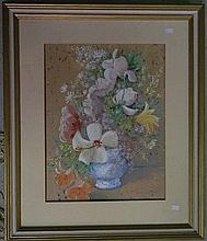 Claudia Forbes-Woodgate Spring Arrangement Watercolour & gouache