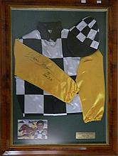 Darren Beadman, Saintly Colours 1998 signed jockeys colours