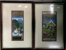 Two Murghal School Illuminated pages