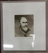 Allan C Glover (act. 1950s) Portrait Study Etching ed. 2nd State
