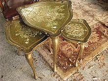 A Florentine style nest of side tables