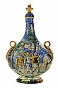 Fine Italian Majolica Lidded Bottle