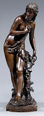 Eutrope Bouret bronze (French, 1833-1906),
