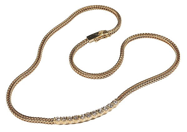18 Kt. Gold Necklace with Diamonds