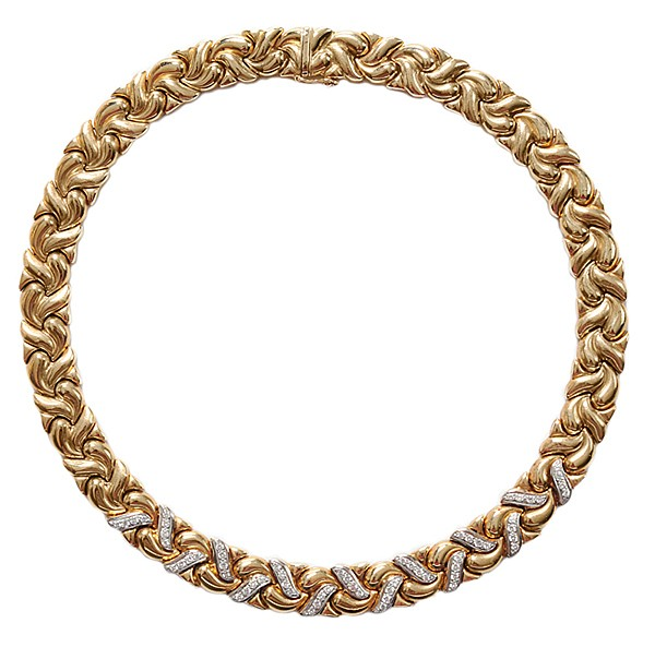 14 Kt. Gold, Diamond Necklace