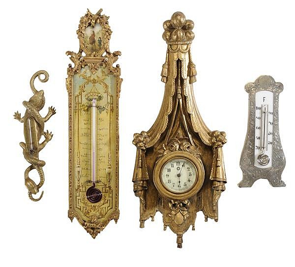 Three Thermometers, Clock