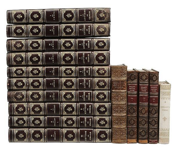 Fifteen Leather-Bound Volumes