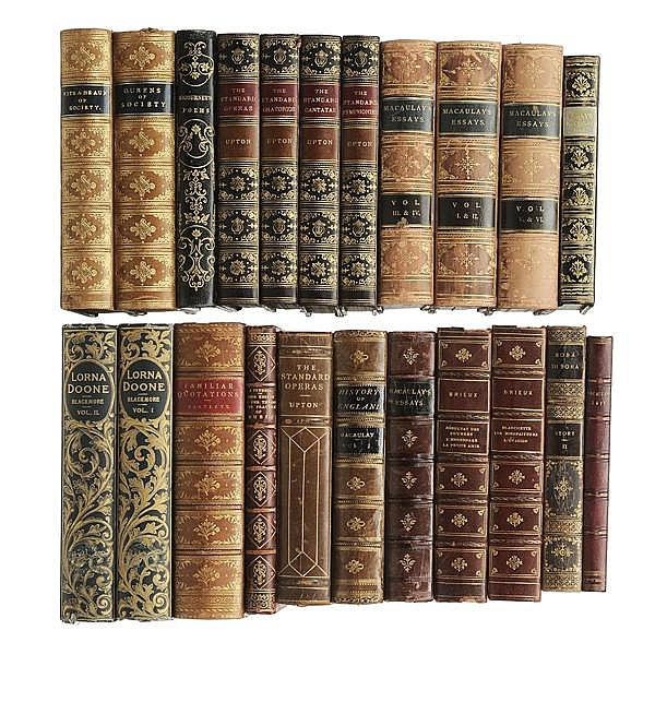 Twenty-Two Leather-Bound Books