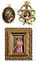 Three Hand Painted Porcelain Plaques