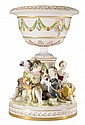 Figural Porcelain Center Bowl