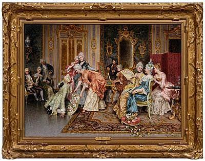 Arturo Ricci painting (Italian, 1854-1919), Le Jeu