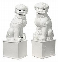 Large Pair Ceramic Foo Dogs