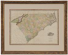 19th Century Map of the Carolinas