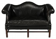 Chippendale Style Leather-