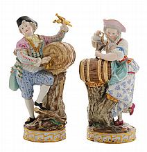 Pair Meissen Porcelain Figures