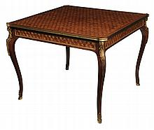 Louis XV Style Parquetry and Bronze-