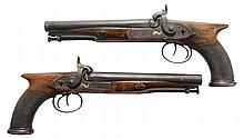 Pair Wilbraham Percussion Pistols