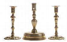 Pair Early Queen Anne Brass