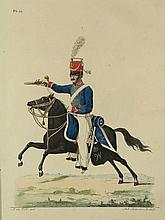 [Militaria]. Teupken, J.F. Beschrijving hoedanig de Koninklijke Nederlandsche Troepen en alle in militaire betrekking staande personen gekleed, geëquipeerd en gewapend zijn./ (Vervolg van de beschrijving (...)). The Hague/ Amst., Gebr. van Cleef,