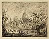 Ensor, J. (1860-1949). La kermesse au moulin. Etching, 1889, 12,2x17,2 cm., signed