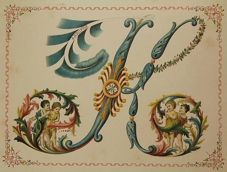 [Calligraphy]. Godinho, L. Alphabeto dos Amores.