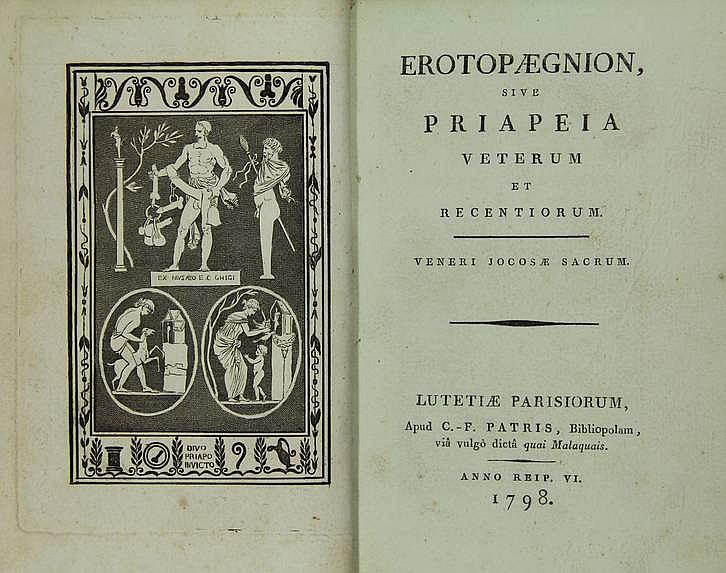 Erotopaegnion, sive Priapeia veterum et