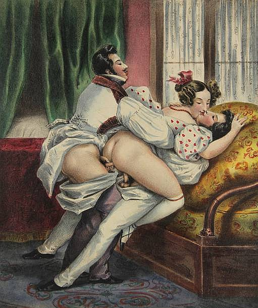 Deveria, A. (1800-1857) (attrib.). (Two erotic