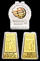 1992 PGA Tour clip badges named to Bob Charles and