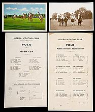 12 programmes for polo matches at the Gezira Sporting Club in Egypt circa 1936/37,