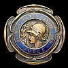 A 1908 London Olympic Games judge's badge, by