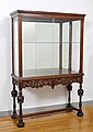EARLY 19TH C WALNUT DISPLAY CABINET