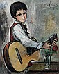 LALANDE, Jacques, (French, 1921-): Boy with, Jacques Lalande, Click for value