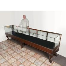 12 FTt LONG VICTORIAN CARVED STORE DISPLAY CASE