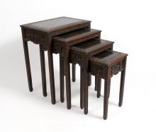 CARVED ORIENTAL NESTING TABLES