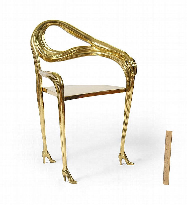 RARE BRASS SALVADOR DALI LEDA CHAIR