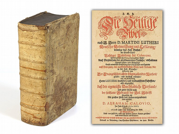 17TH CENTURY GERMAN CALOVIUS CALOV BIBLE 1681