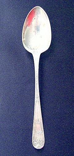 1 BECHTEL & ENO COIN SILVER SPOON: Signed and also engraving on back  side