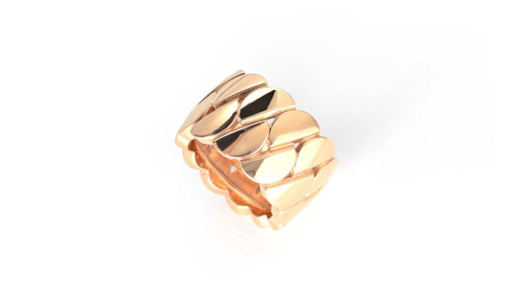CARTIER LA DONA 18K GOLD BAND RING
