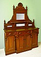 LARGE WALNUT EASTLAKE VICTORIAN SIDEBOARD