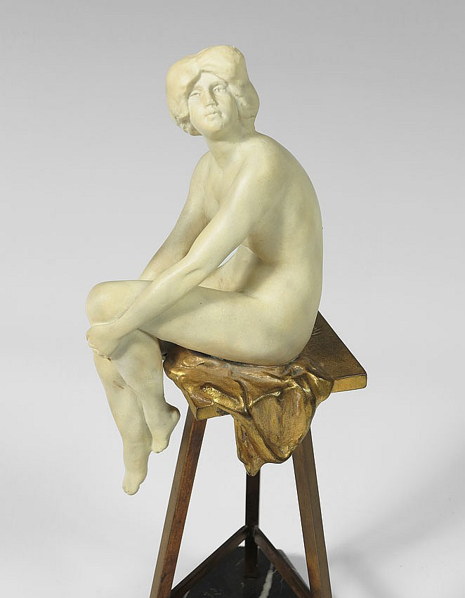 35: RUDOLF MARCUSE NUDE MODEL SCULPTURE