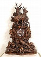MONUMENTAL BLACK FOREST CARVED MANTLE CLOCK