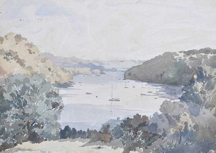 Patrick Nairne watercolour, The Helford River from