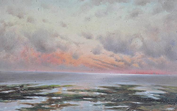 A Craigmile oil on canvas, extensive seascape at