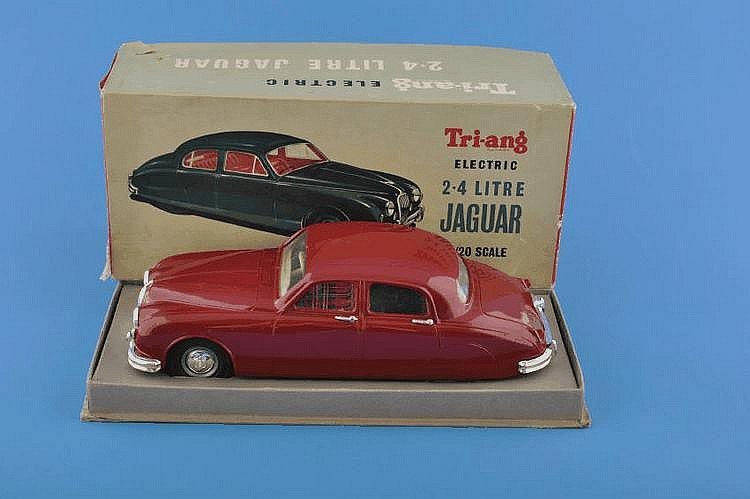 Boxed Tri-Ang Minic electric 2.4 litre Jaguar,